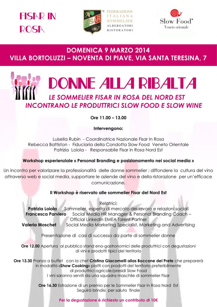 Evento Donne alla Ribalta