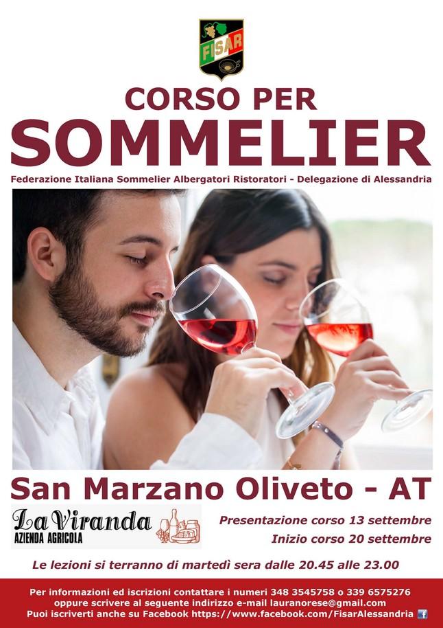 Corso per sommelier a San Marzano Oliveto, Asti, settembre 2016