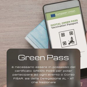 Green pass obbligatorio per eventi fisar