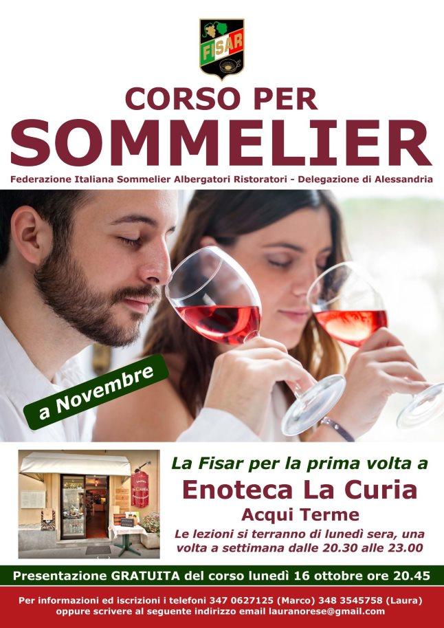 Corso per Sommelier ad Acqui Terme, novembre 2017
